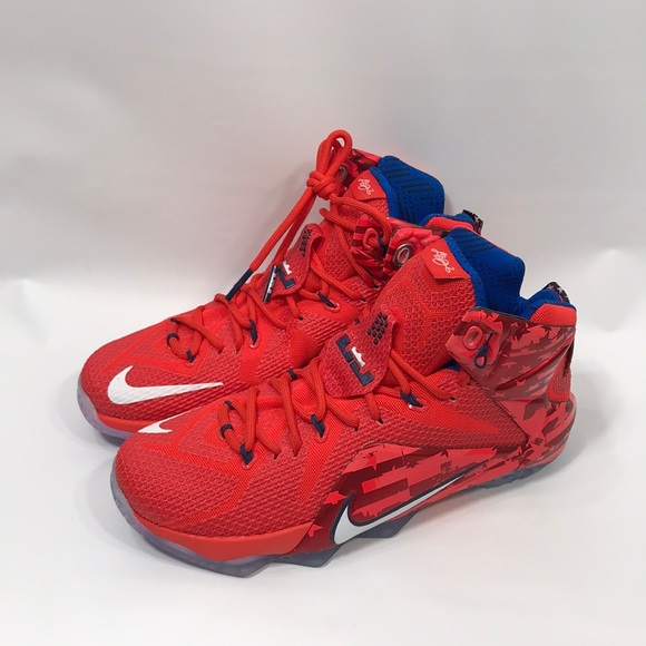da88dfd9d8eb0 Nike Lebron 12 Independence Day Sneakers